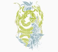 Snake Dragon (colored) One Piece - Short Sleeve