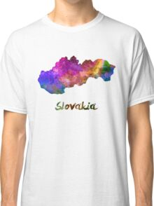 Slovakia in watercolor Classic T-Shirt