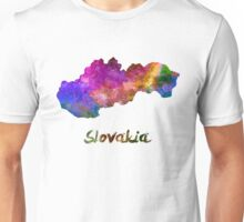 Slovakia in watercolor Unisex T-Shirt