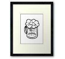 Beer drinking handle Framed Print