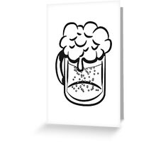 Beer drinking handle Greeting Card