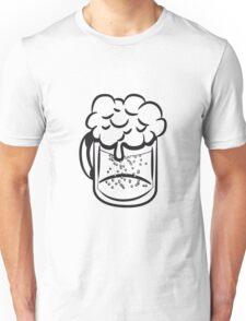 Beer drinking handle Unisex T-Shirt
