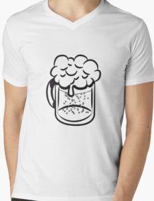 Beer drinking handle Mens V-Neck T-Shirt