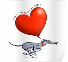Stolen Heart - blue hound Poster