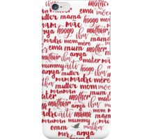 Mother Mom Mum Mummy Love Heart iPhone Case/Skin