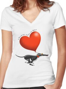 Stolen Heart - black hound Women's Fitted V-Neck T-Shirt