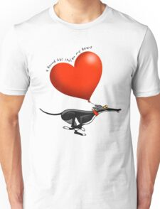 Stolen Heart - black hound Unisex T-Shirt