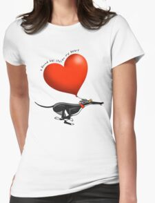 Stolen Heart - black hound Womens Fitted T-Shirt