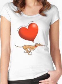 Stolen Heart - brindle hound Women's Fitted Scoop T-Shirt
