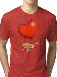 Stolen Heart - brindle hound Tri-blend T-Shirt