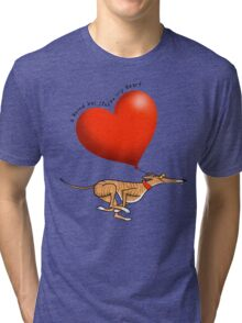 Stolen Heart - brindle hound Tri-blend T-Shirt