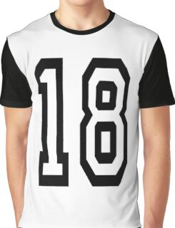 18, TEAM SPORTS, NUMBER 18, EIGHTEEN, EIGHTEENTH, ONE, EIGHT, Competition,  Graphic T-Shirt