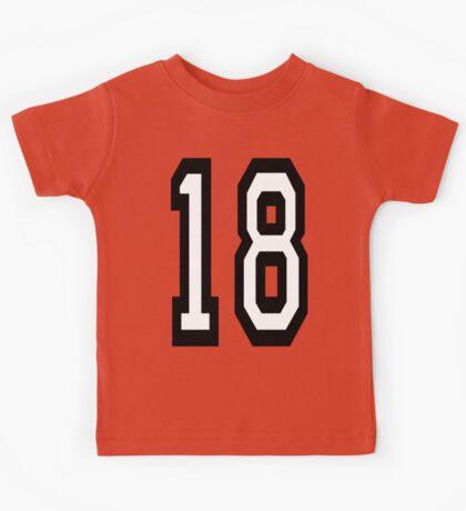 18, TEAM SPORTS, NUMBER 18, EIGHTEEN, EIGHTEENTH, ONE, EIGHT, Competition,  Kids Tee