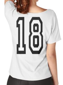 18, TEAM SPORTS, NUMBER 18, EIGHTEEN, EIGHTEENTH, ONE, EIGHT, Competition,  Women's Relaxed Fit T-Shirt