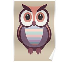 WIDE EYED OWL Poster