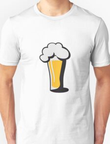 Beer drinking glass drinking alcohol Unisex T-Shirt