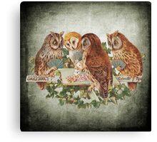 Vintage Owl Canvas Print