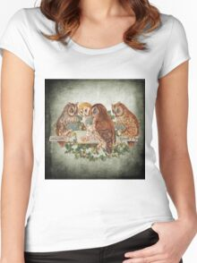 Vintage Owl Women's Fitted Scoop T-Shirt