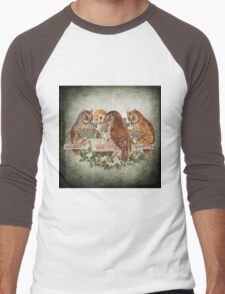 Vintage Owl Men's Baseball ¾ T-Shirt