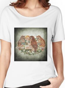 Vintage Owl Women's Relaxed Fit T-Shirt