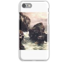 Peter Graham - The Grass Crown Headland of a Rocky Shore iPhone Case/Skin