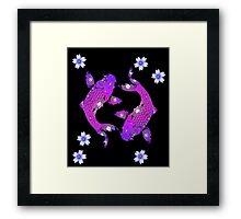 Purple Asia Koi Framed Print