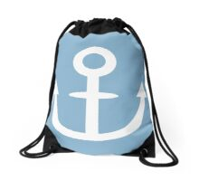 Jojo - Soft & Wet Anchor (Variant 1, White) Drawstring Bag