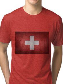 Switzerland Flag Tri-blend T-Shirt
