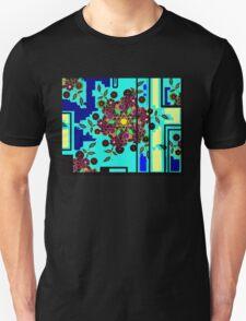 ZEN BLUE GARDEN WINDOW Unisex T-Shirt