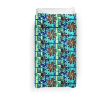 ZEN BLUE GARDEN WINDOW Duvet Cover