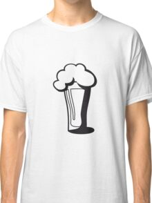 Beer drinking glass drinking alcohol Classic T-Shirt
