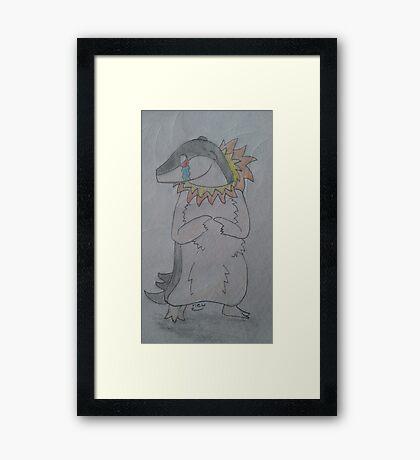 A Shy Quilava Framed Print