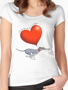 Stolen Heart - blue hound Women's Fitted Scoop T-Shirt