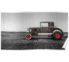 Rat Rod Black and Red Poster
