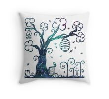 Enchanted Tree With Forest Animals Throw Pillow