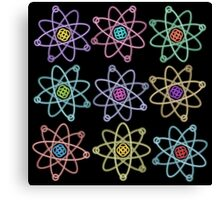 Gold - Silver Atomic Structure pattern Canvas Print