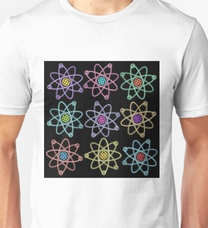 Gold - Silver Atomic Structure pattern Unisex T-Shirt