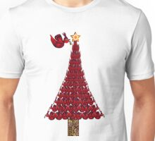 rED BirD OF pEACE cHRISTMAS tREE Unisex T-Shirt
