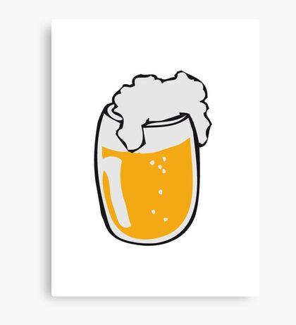 Drinking beer glass drink Canvas Print