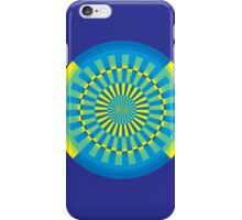 gyre - seaside - yellow blue iPhone Case/Skin