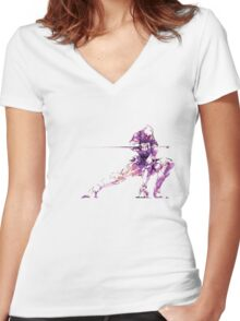 MGS - Raiden Women's Fitted V-Neck T-Shirt