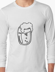 Drinking beer glass drink Long Sleeve T-Shirt