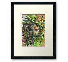 Greenman Watercolor  Framed Print