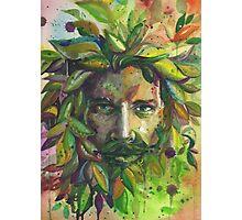 Greenman Watercolor  Photographic Print