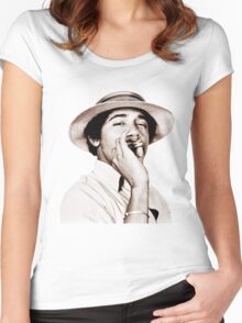 Barack Obama Smoking weed Women's Fitted Scoop T-Shirt