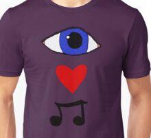 Eye <3 Music Unisex T-Shirt