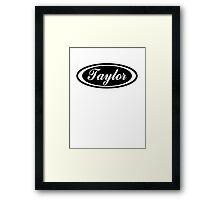 Oval Taylor Framed Print