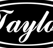 Oval Taylor Sticker