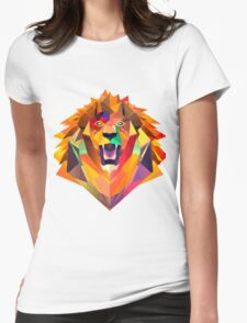 Low-Poly Lion Womens Fitted T-Shirt