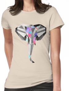 Low-Poly Elephant Womens Fitted T-Shirt